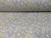 Nightingale Songbird Grey Yellow 140cm Wide