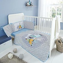NIGHTS BABY GIRLS NURSERY COT BED PADDED BUMPER