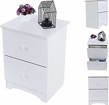 Nightstand Bedside Table with 2 Drawers White
