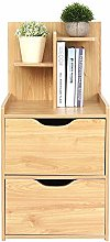 Nightstand Storage Wooden Bedside Table