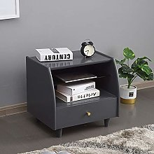Nightstand Wooden Bedside Cabinet Simple Storage