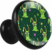 Nightstands Knobs Green Rabbit Cabinet Knobs