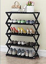 Niguleser Multi Tier Shoe Rack,Foldable Bamboo