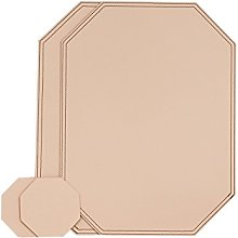 Nikalaz Octagon Placemats and Coasters Set of 2,