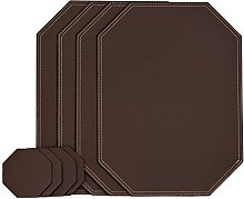 Nikalaz Octagon Placemats and Coasters Set of 4,