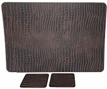 Nikalaz Set of 2 Placemats and 2 coasters, table