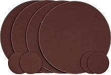 Nikalaz Set of Round Placemats and Coasters, 4