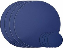 Nikalaz Set of SMALL Round Placemats and Coasters,