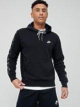 Nike Tape Pullover Hoodie - Black