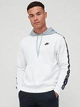 Nike Tape Pullover Hoodie - Grey