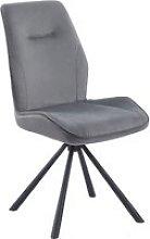 Niken Velvet Upholstered Swivel Dining Chair In