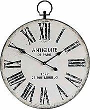 NIKKY HOME Silent Clock Vintage Disdressed Metal