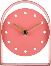 NIKKY HOME Silent Iron Table Clock No Ticking for