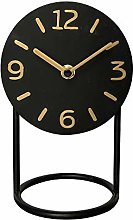 NIKKY HOME Silent Iron Table Clock with Base No