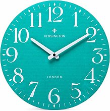 NIKKY HOME Teal Wall Clock Battery Operated Silent