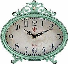NIKKY HOME Vintage Round Quartz Analog Table Clock