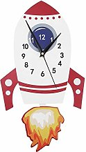 Nikou Pendulum Wall Clock- Cartoon Mute Wall Clock