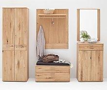 Nilo Wooden Hallway Furniture Set In Planked Oak