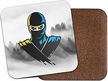 Ninja Warrior Cork Backed Drinks Coaster for Tea &