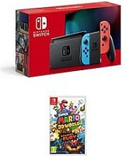 Nintendo Switch Neon Console With Super Mario 3D