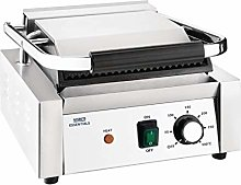 Nisbets Essentials Single Contact Grill in Silver