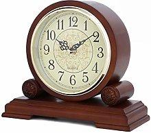 NIUHL Clock-Wall Clock NHL Fireplace Clock Silent