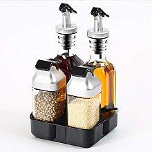 Niumen Kitchen Spice Bottle Set,5 Piece Oil And