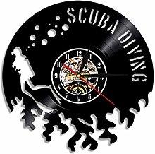 NIUMM Vinyl Wall Clock Scuba Diving Wall Clock