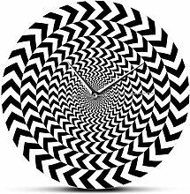 NIUMM Wall Clock Spiral Geometric Optical Illusion