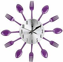 Niunion Wall Clock, Purple Kitchen Clock Noiseless