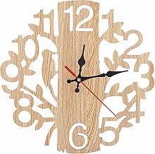 Niunion Wall Clock, Tree Shaped Wall Clock Beige