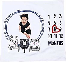 niyin204 Baby Monthly Milestone Blanket, 0-12