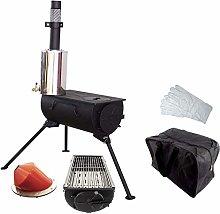 NJ Comfort Portable Wood Burning Stove Grill