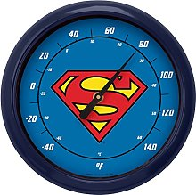 NJ Croce Superman Logo Indoor/Outdoor Thermometer
