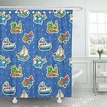 NJMRZX Shower Curtain Pattern Boy Colorful