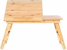 NJYT Laptop Table Adjustable Height Bed Tray Table