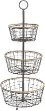 Nkuku - 3 Tier Storage Baskets Koba Wire Bowl