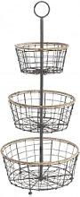 Nkuku - Koba Wire Bowl Stand - 3 Basket - Silver