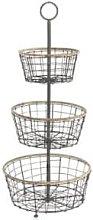 Nkuku - Koba Wire Bowl Stand - 3 Basket