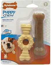 Nlabone Puppy Chew Ring Toy (Pack Of 2) (Petite)