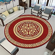 NLGGY Chinese Style Round Carpet Living Room