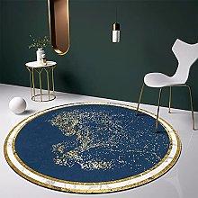 NLGGY Chinese Style Round Carpet Washable Living
