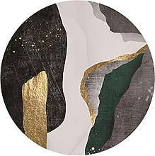 NLGGY Modern Light Luxury Round Area Rug for