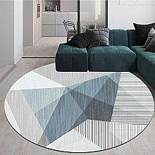 NLGGY Round Area Rug 120cm Modern Geometric Style