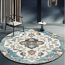 NLGGY Round Carpet Ethnic Style Bedroom Area Rug