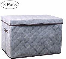 NLIAN- Large Foldable Storage Bin with Lid