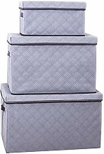 NLIAN- Large Storage Boxes with Lids and Handles,