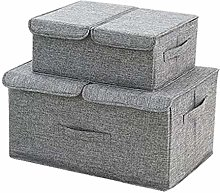 NLIAN- Larger Storage Bins 2-Pack Polyester Fabric
