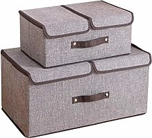 NLIAN- Set of 2 Large Storage Boxes with Lids and