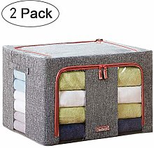 NLIAN- Set of 2 Storage Bags with Double Zippers,